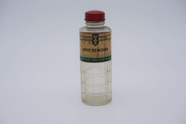 Antique Mopar Spot Remover, 5 oz glass bottle.