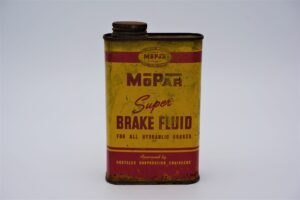 Antique Mopar Super Brake Fluid, 16 oz can.