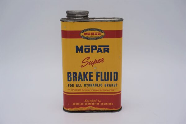 Antique Mopar Super Brake Fluid can, 16 oz.
