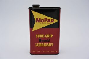Antique Mopar Sure Grip Hypoid Lubricant, 1 quart can.