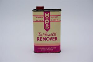 Antique Mopar Tar & Road Oil Remover, 16 oz can.