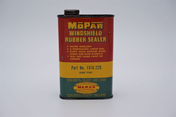 Antique Mopar Windshield Rubber Sealer, 1 pint can.