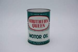 Antique Southern Queen Motor Oil, 1 quart can.