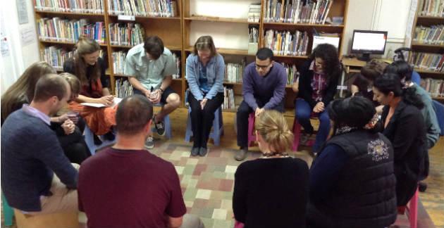 Staff praying