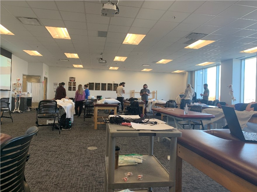 Dr. Clark's first teaching lab at UIndy DPT