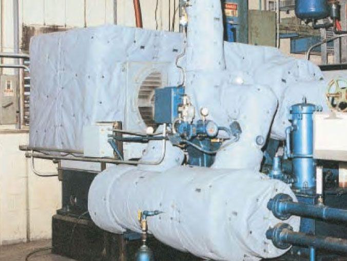 multistage-compressor-motor-housing-acoustic-blanket
