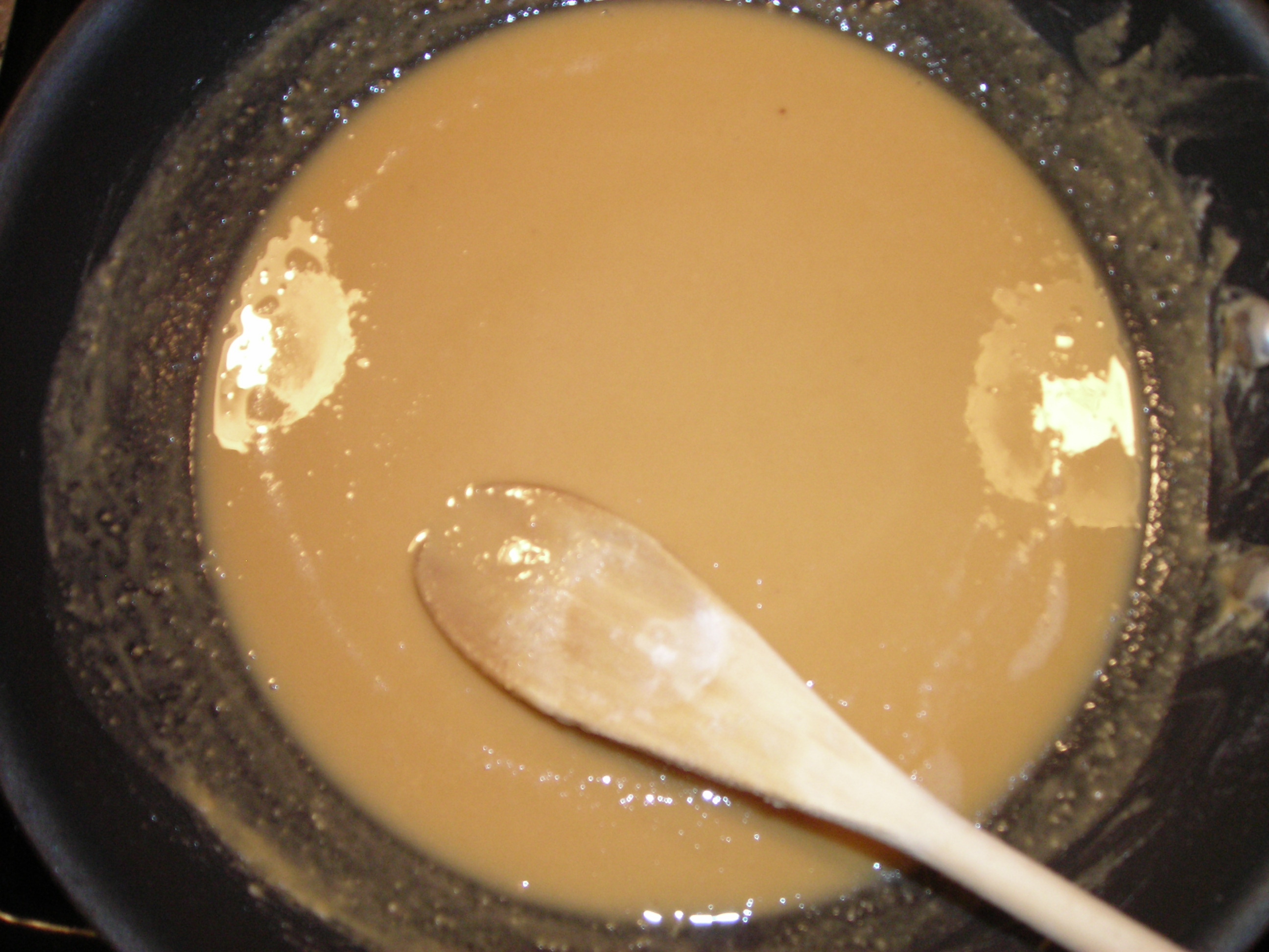 Roux is a rich brown and smells like baked piecrust