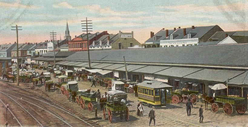 Illustration of French Market circa 1888