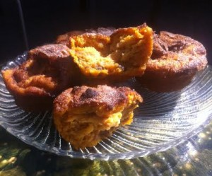 Finished Sweet Potato Muffins ready to eat.