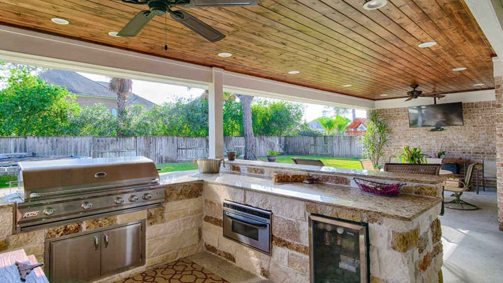 Woodlands Outdoor Kitchen Construction 5 1st Choice