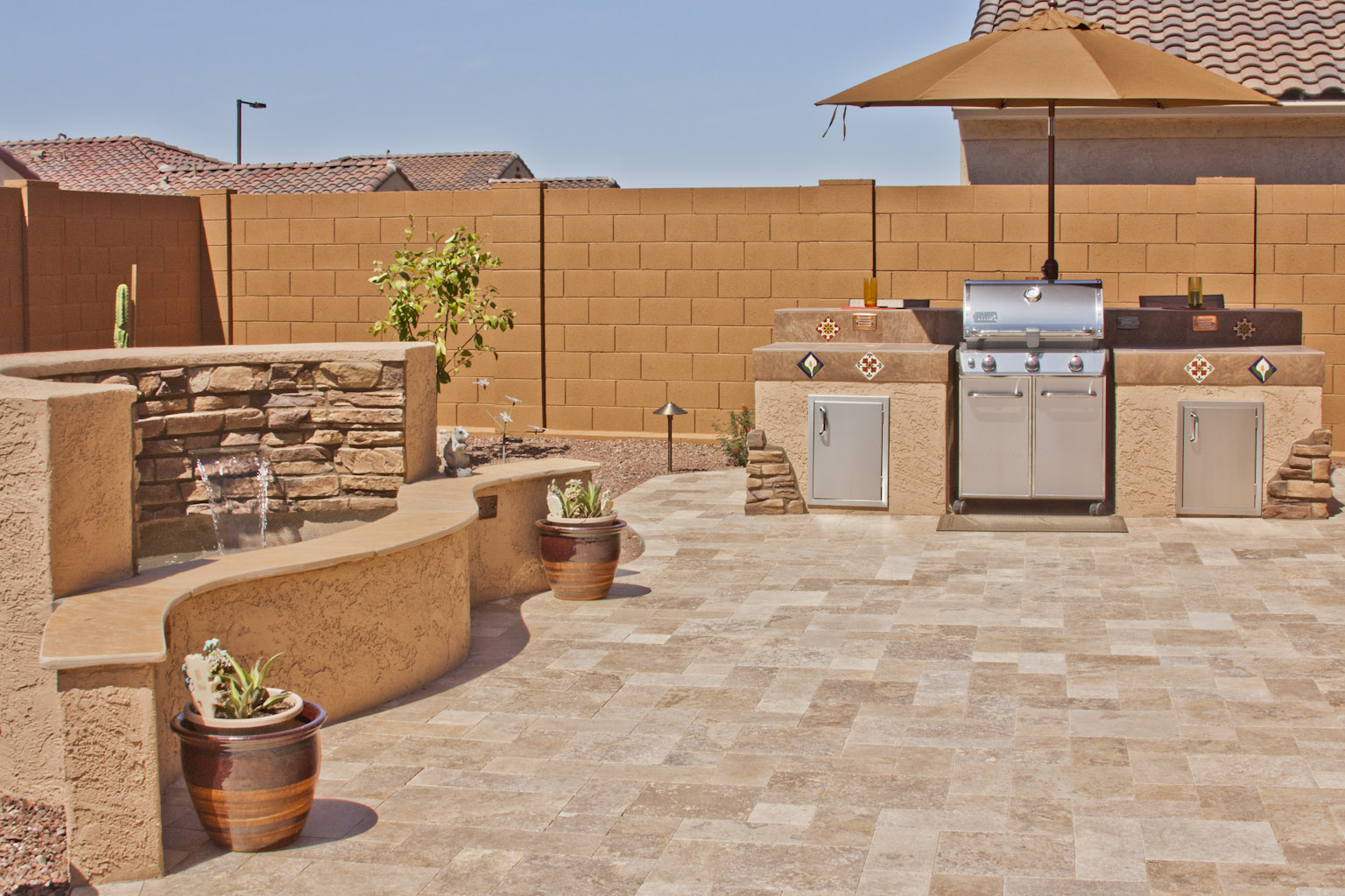 Travertine in the Backyard