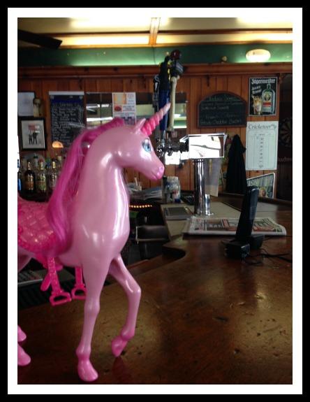 Unicorn at bar