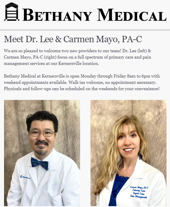 Dr. Lee and Carmen Mayo PA-C