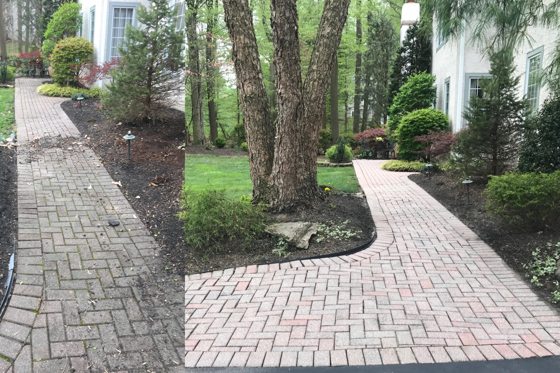 Before & After power washing photos