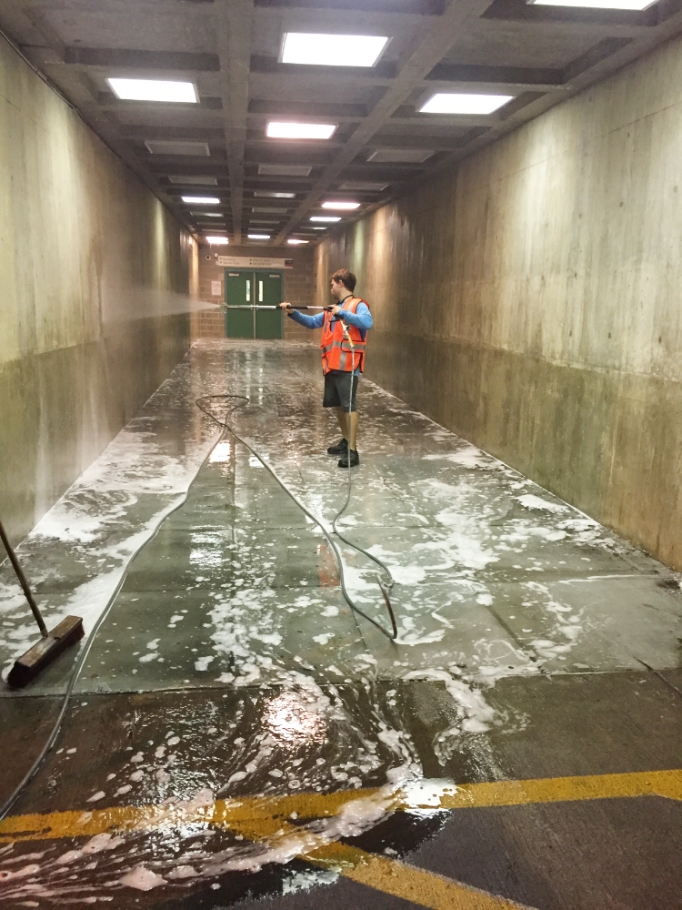 Commercial Concrete Cleaning Photo