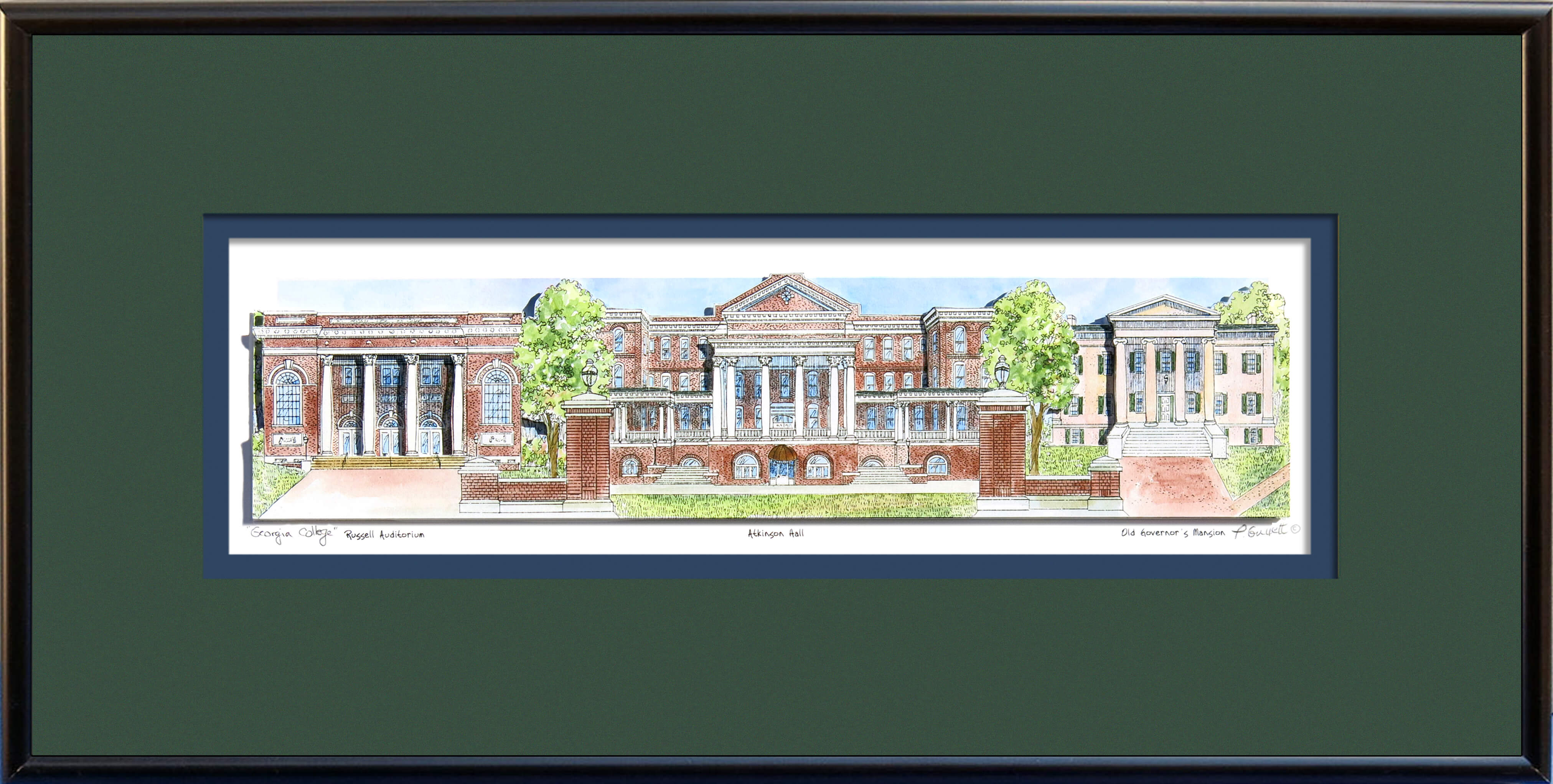 GA COLLEGE FRAMED