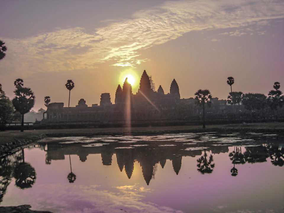 Sunrise at Angkor Wat - a famous site never to be missed