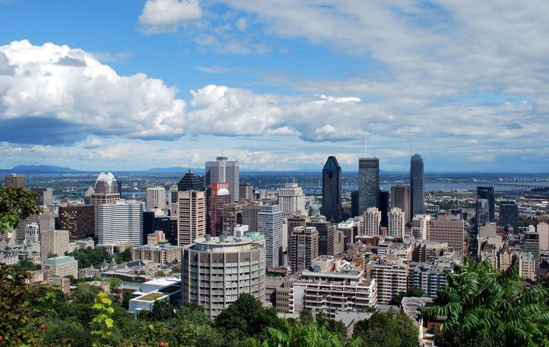 A view of Montreal from Mount Royal