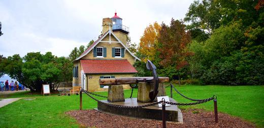 Lighthouse, Peninsula State Park, Door County = Photography by my wife, Hema Saran