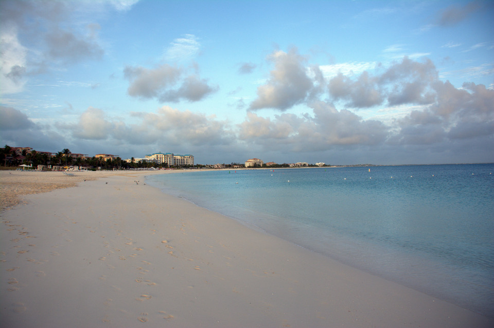 Grace Bay Beach, Providenciales, Turks and Caicos - With clear blue waters and white sands, it is 2nd in the list of top 25 beaches around the world