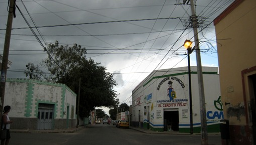 Driving through local road(libre) from Chichen Itza to Cancun