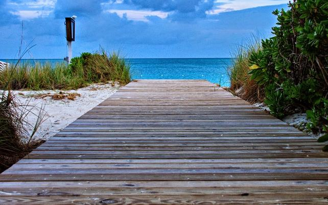 Our Hotel Beach Area - On Grace Bay Beach