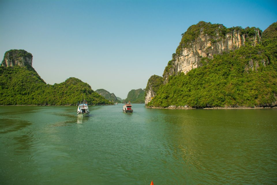 Halong Bay in Northern Vietnam is a UNESCO site