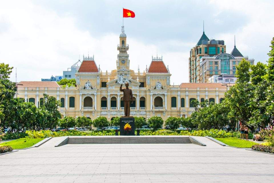 Ho Chi Minh City People's Committee Building was built in 1908 as Hotel De Ville