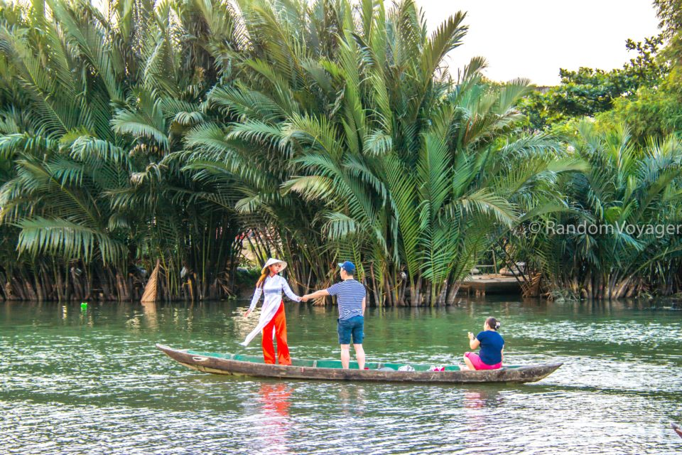 Romance on a boat at Hoi An