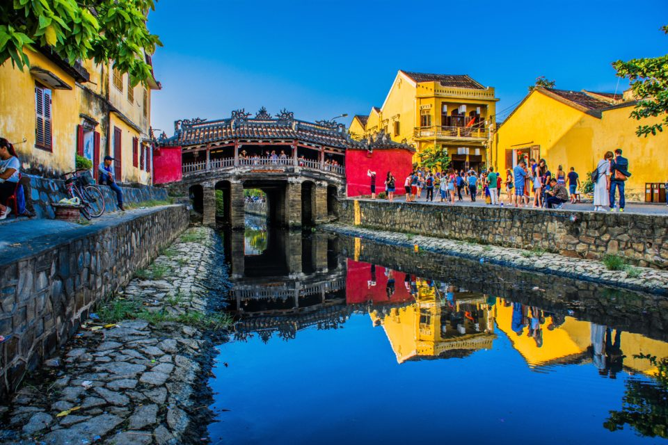 Hoi An, ancient port seen here with Japanese covered Bridge
