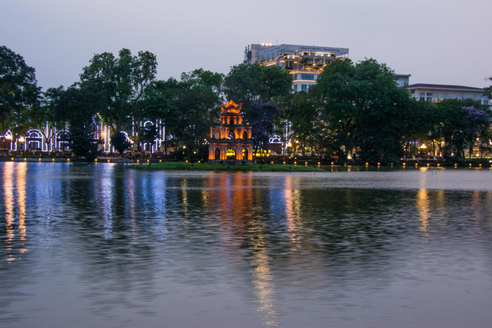 Hoam Kiem lake is the historic center of Hanoi and is located near the French Quarters