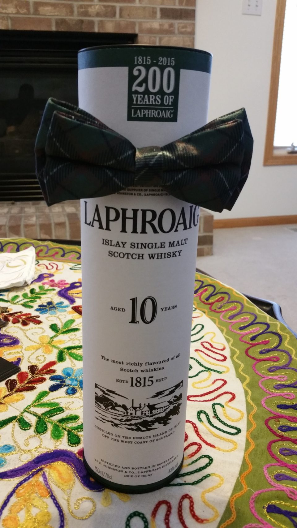 Laphroaig Scotch - Very peaty and overrated