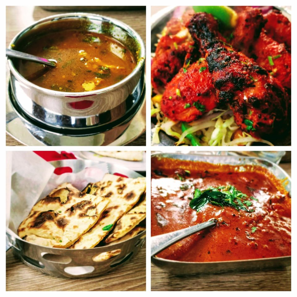 Sample cheat meal what I used to do - Tandoor roti + Chicken soup + Tandoor chicken (3 pieces) + Chettinad garlic curry