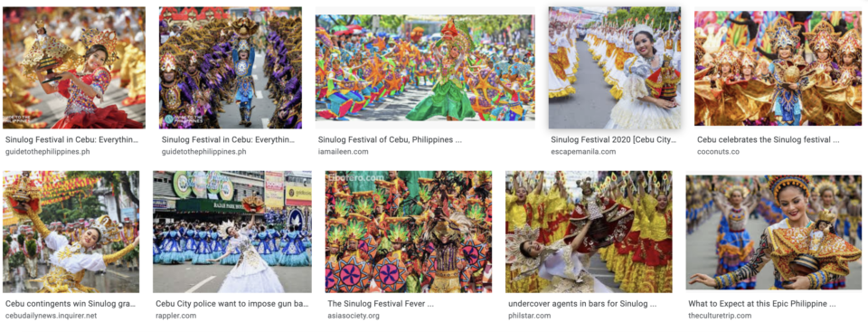 Sinulog Festival at Cebu city