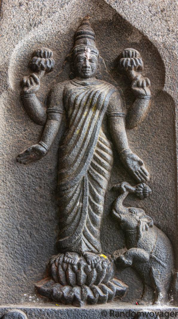 Pic of Mother Lakshmi from Akhilandeswari-Jambukeswarar Temple, Thiruvaanaikaaval, Tamilnadu, India