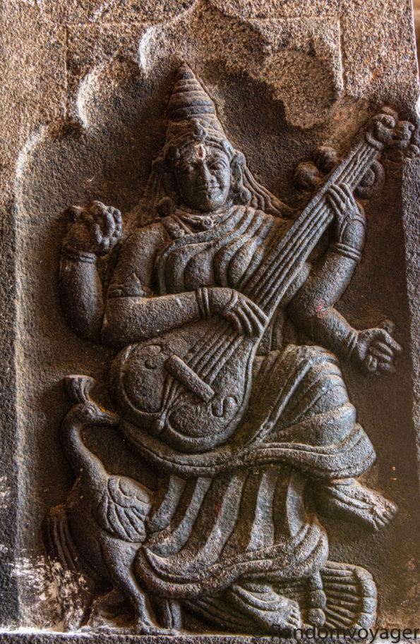 Mother Saraswathi at Akhilandeswari-Jambukeswarar temple