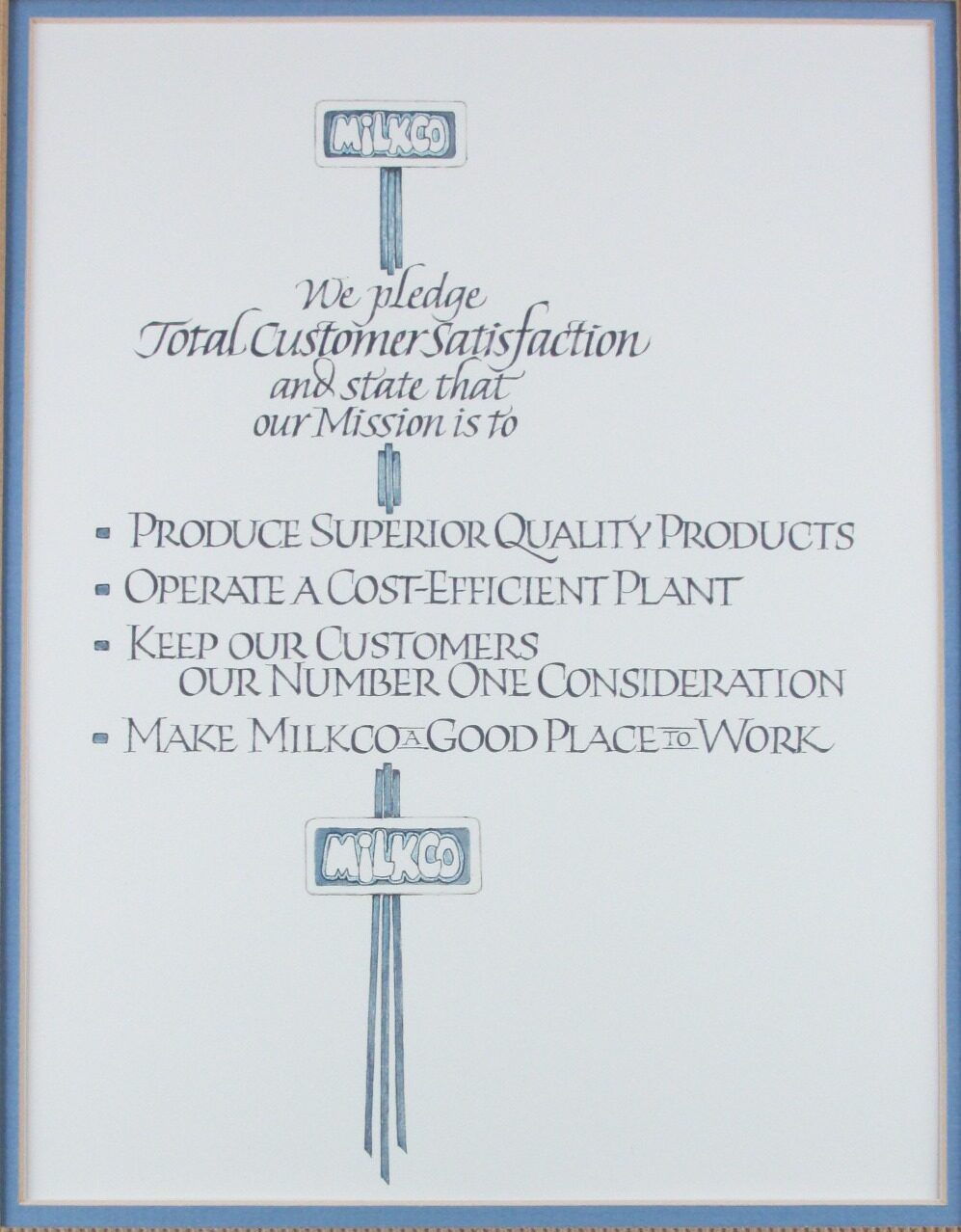 Milkco Mission Statement