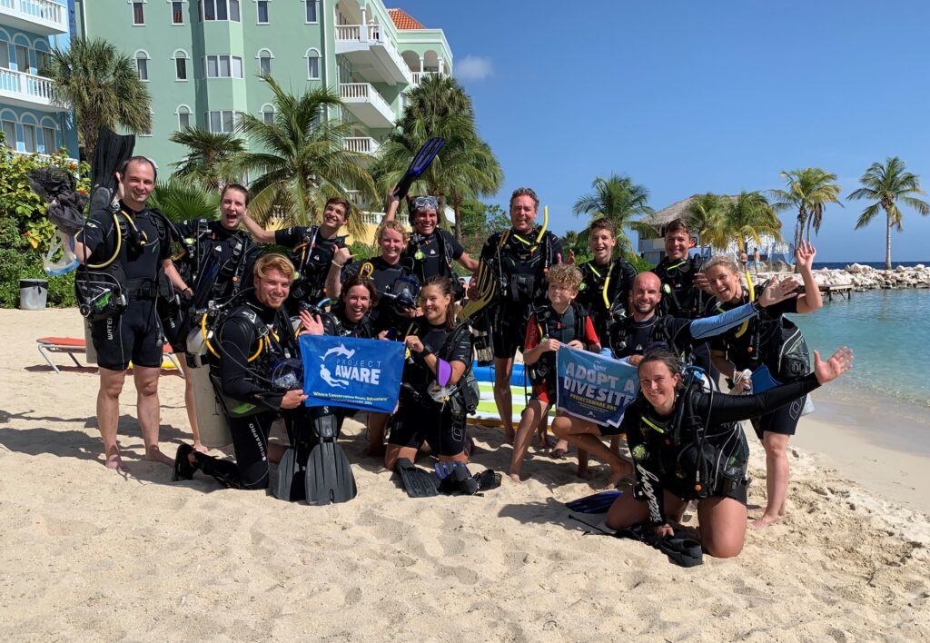 Project Aware Clean Up Dive at Blue Bay