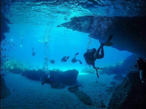 Blue Room boat dive