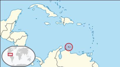 Island Curacao Map