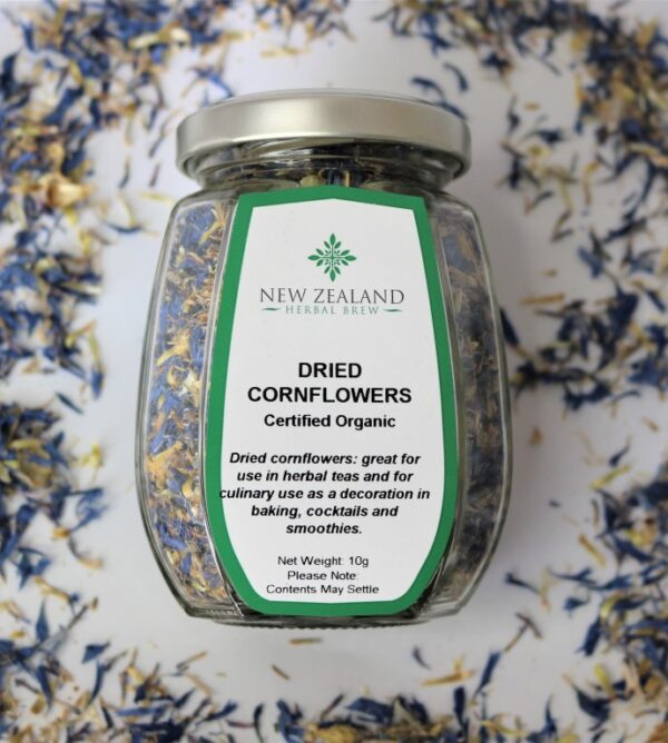 Dried Cornflowers by New Zealand Herbal Brew