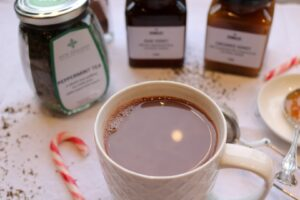Hot Peppermint Chocolate Drink