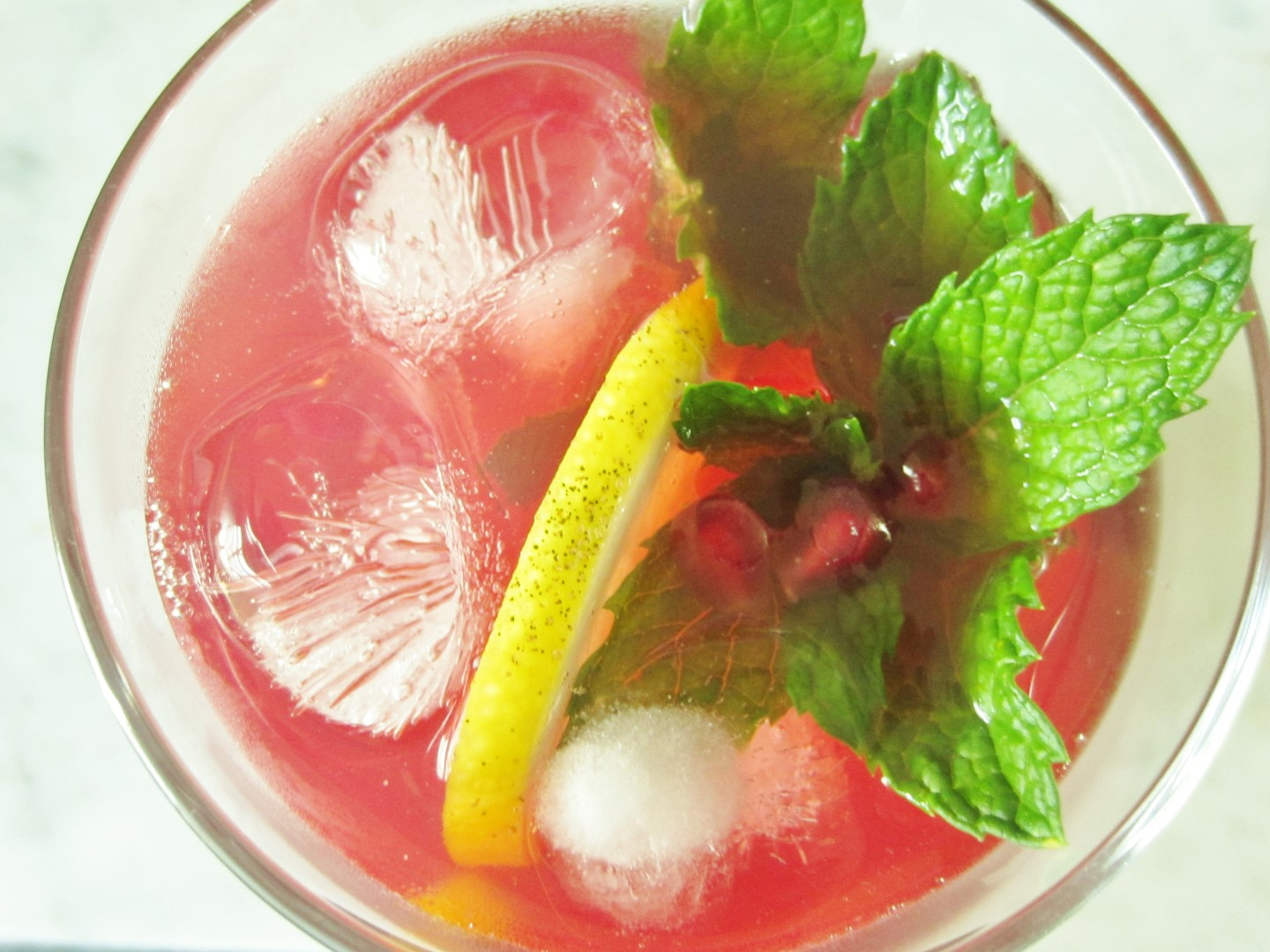 Hibiscus & Pomegranate Cooler