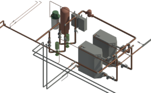 3D Model of the New Boilers Designed to Serve the Rattlesnake Elementary School.