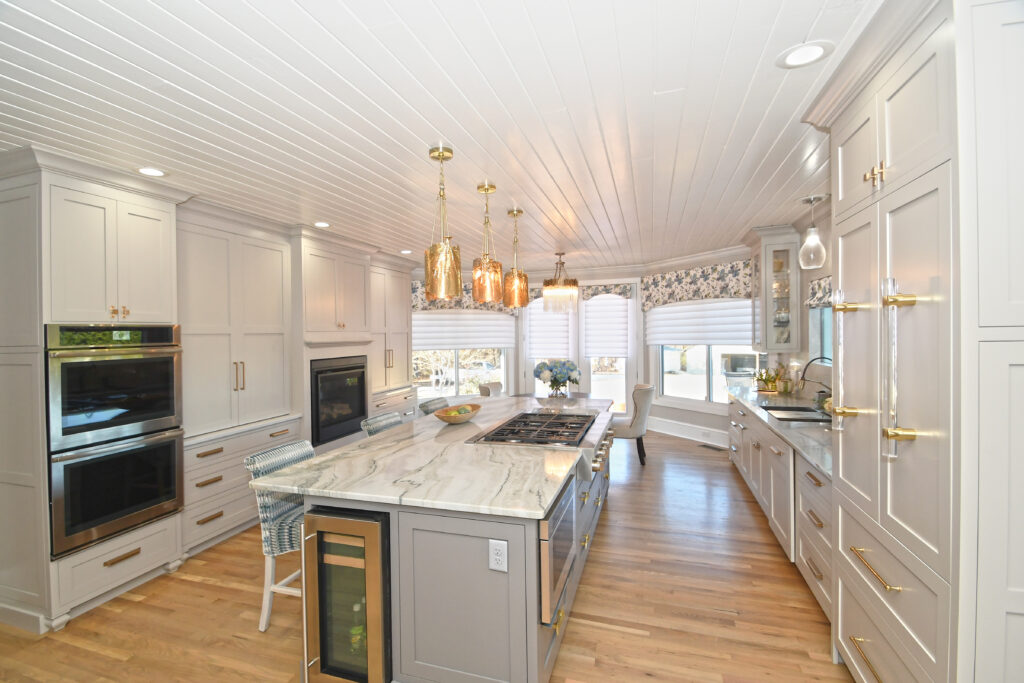 Kitchen reno with motorized window coverings