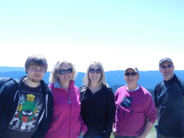 Past students and parents as chaperones on field trip to Monterey California.