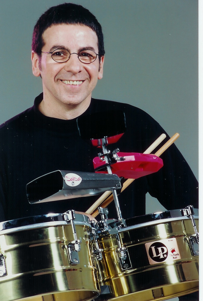 Vince Cherico seated behind his drum set.