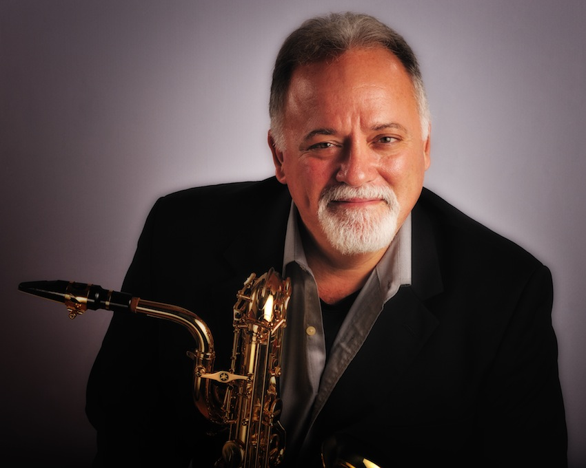 Denis DiBlasio with one of his saxophones.