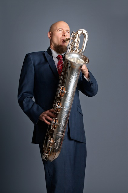 Rick Zelinsky and his Saxophone
