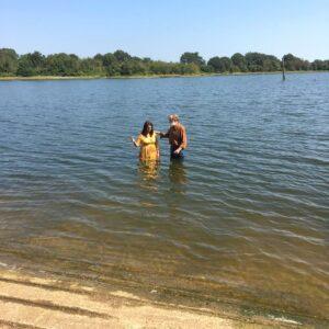 Baptism in Lake Fork